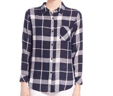 白黒チェックのシャツ