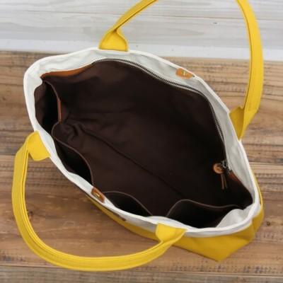 多部未華子の黄色のトートバッグ